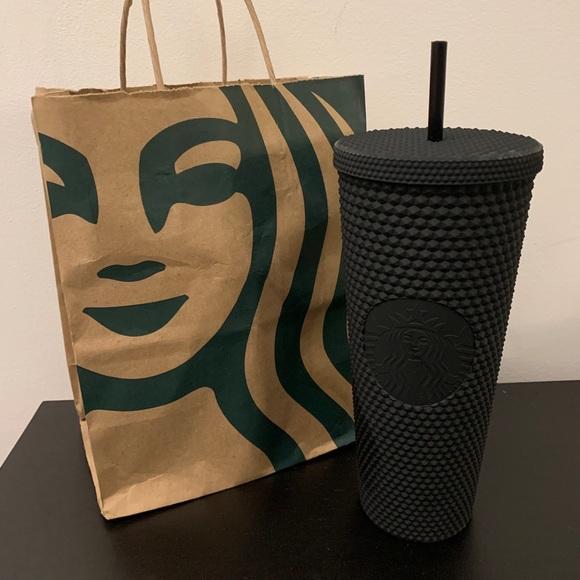 2021 Starbucks Matte Black Tumbler 24 studded Cup